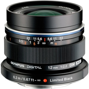 Объектив Olympus EW-M1220 ED 12mm 1:2.0 Black