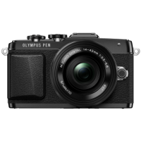 Цифрова системна фотокамера Olympus E-PL7 14-42 mm Pancake Zoom Kit Black/Black