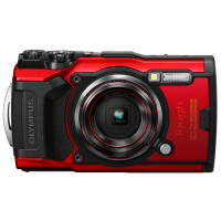 Цифрова камера Olympus TG-6 Red (Waterproof - 15m; GPS; 4K; Wi-Fi)