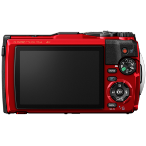 Tough - Цифровая камера Olympus TG-6 Red (Waterproof - 15m; GPS; 4K; Wi-Fi) - фото 3