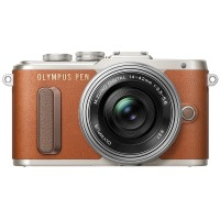 Цифрова фотокамера Olympus E-PL8 14-42 mm Pancake Zoom Kit Brown / Silver